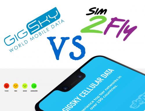 Gigsky eSIM vs SIM2Fly – Which eSIM is best for Asia?